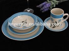Mainstays 16-Piece handpainted crockery sets,Assorted Colors