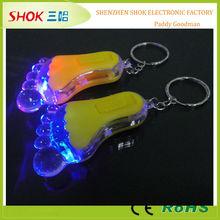 Popular hot sale led flashing mini led keyring torch