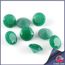 Milky Green Crystal Glass Beads Bulk Production