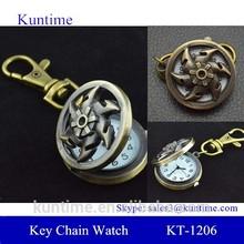 wheels shape design fashion corporate gift key chain watch