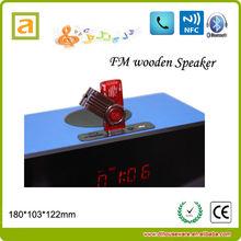 Popular FM radio Speaker Subwoofer Touch screen wooden speaker