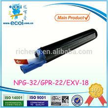 NPG32/GPR22/EXV18 toner cartridge for canon copiers IR1018/1022/1024