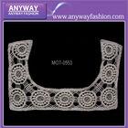 Newest! Floral neck trims, crochet lace neckline applique