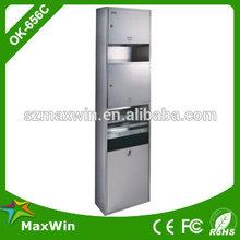 stainless steel folded paper dispenser,Hand Dryer,Waste Bin Combination