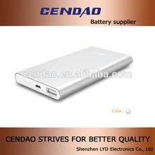 cendao 2014 hot selling best quality metal new ultra thin power bank slim 5000mah power bank backup battery case