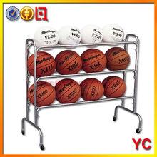 12 Ball Wide floor standing metal Basketball Rack