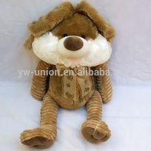 25cm, 32cm sitting size long legs brown rabbit soft stuffed plush toys