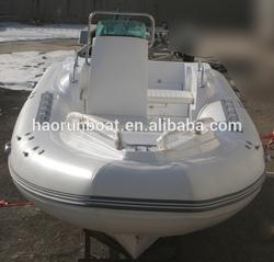 5.8m pvc or hypalon fiberglass boat RIB mercury engine rib with trailer