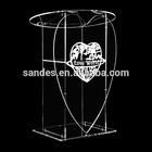 Pure Cheap Unqiue High Organic Glass Heart Shape Podium Pulpit
