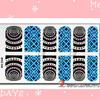 2014 hot sale newest design custom kiss nail stickers