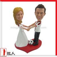 custom unique soccer funny cake topper for Valentine gift for couple