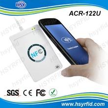 Cheap price white ABS case 13.56mhz free sdk usb nfc reader with writer