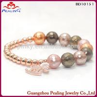 2014 New arrival make beaded cancer bracelets