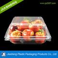 transparente de plástico con bisagras desechables cubierta de alimentos de contenedores de envases