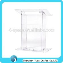 """durable Plexiglas Podiums with a convenient 14"""" x 8"""" shelf"""