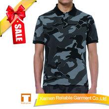 220GSM 100% cotton pique camouflage polo shirts china manufacturer camo polo shirt supplier