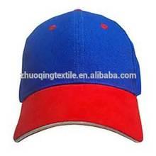 cotton baseball cap /promotional hats blue red sandwich