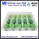 Rubber bath frog/Flashing frog set 4pcs