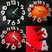 2014 3D ball shape wall clock with diamond(HD-8020A)