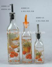 glass cruet oil and vinegar ,vinegar and oil wine glass