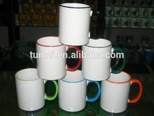 PROMOTION GIFT!!! 11 oz edge color sublimation ceramic mug