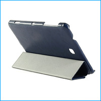 Leather smart cover case for samsung galaxy tab 4 8.0-dark blue