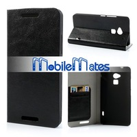 Wholesale Foldable Flip Stand Crystal Grain Leather Case for HTC One Max T6