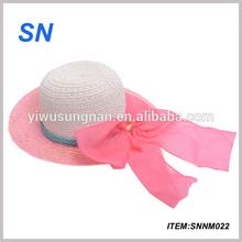 2014 summer straw beach hat/wide brim beach hat