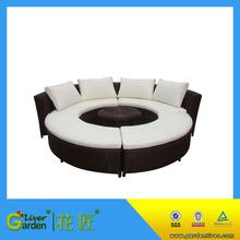 luxury outdoor wicker set furniture round wicker rattan sofas