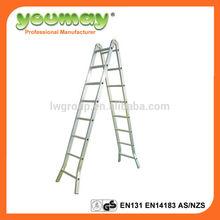 EN131 approval Aluminum multi-purpose ladder AM0514C/multi/aldi/aldi ladder/a type ladder