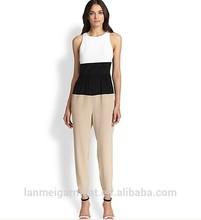 China Wholesale Ladies Silk Crepe de Chine Jumpsuit