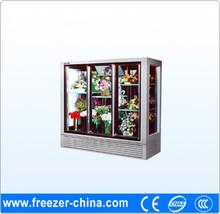 Fancy design Vetical glass door cooler/chiller flower showcase
