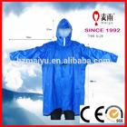pvc hooded rain cape poncho for adults