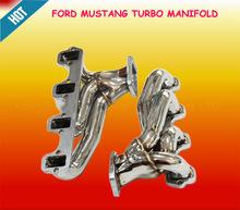 Polies en acier inoxydable turbo collecteur d'échappement pour ford mustang 5.0l 87-94 moteur v8( ford mustang pièces)