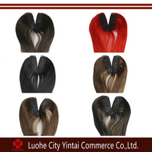 Colored Red, Ombre, Black, Brown U Part Lace Top Closure,100% Virgin Indian Remy Hair