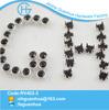 Black rhinestone with 8 prong decorative stud rivet nailhead