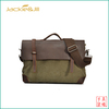 GF-A53 New arrival leather canvas messenger bag mens briefcase tote bag