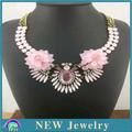 méxico cuentas étnicas collar de la boda baratos joyería en la acción más reciente de novia rosa de diamantes de imitación de acrílico collar de flores pn2958