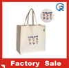 Factory cheap cotton canvas tote bag long handle