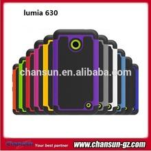mobile phone pc+silicon skin case for nokia lumia 630