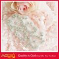 Decorativa Real strass guarnição de cabelo Sash acessórios de noiva de bling flor ponto cruz bordados