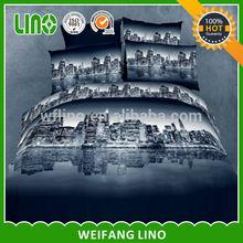 stampa su tessuto di poliestere a due oceano blu 3d foto di barca titanic biancheria da letto
