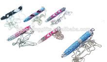 2014 Latest wholesale Fashion 8.5cm twist jeweled ball pen cute necklace ballpoint pen