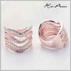 Top Sale!! Rose Gold Painting Elegant cnc jewelry machine wedding ring