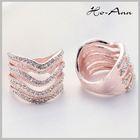 Top Sale!! Rose Gold Painting Elegant platinum diamond finger rings