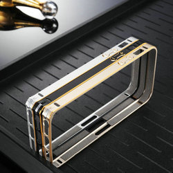 cd grain shining fashion slim brushed aluminum case for iphone 5 5g