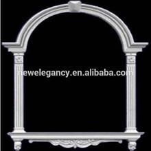 Bush Hammered Grey Granite Stone Arch