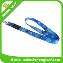 Sublimatiom ocean blue polyester lanyard string