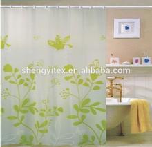 Hot Sale Transparent Tree Pinted PEVA Shower Curtains
