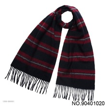 high quality yarn dyed stripe mens winter wrap fashion wool scarf wholesale